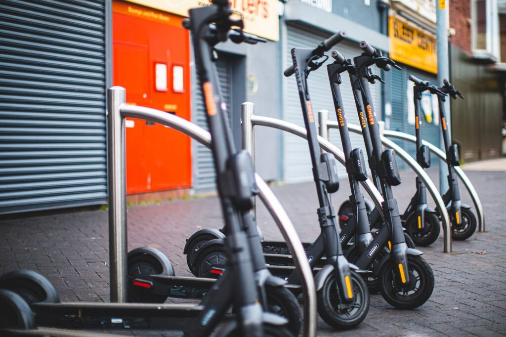 Ginger e-scooters in Middlesbrough