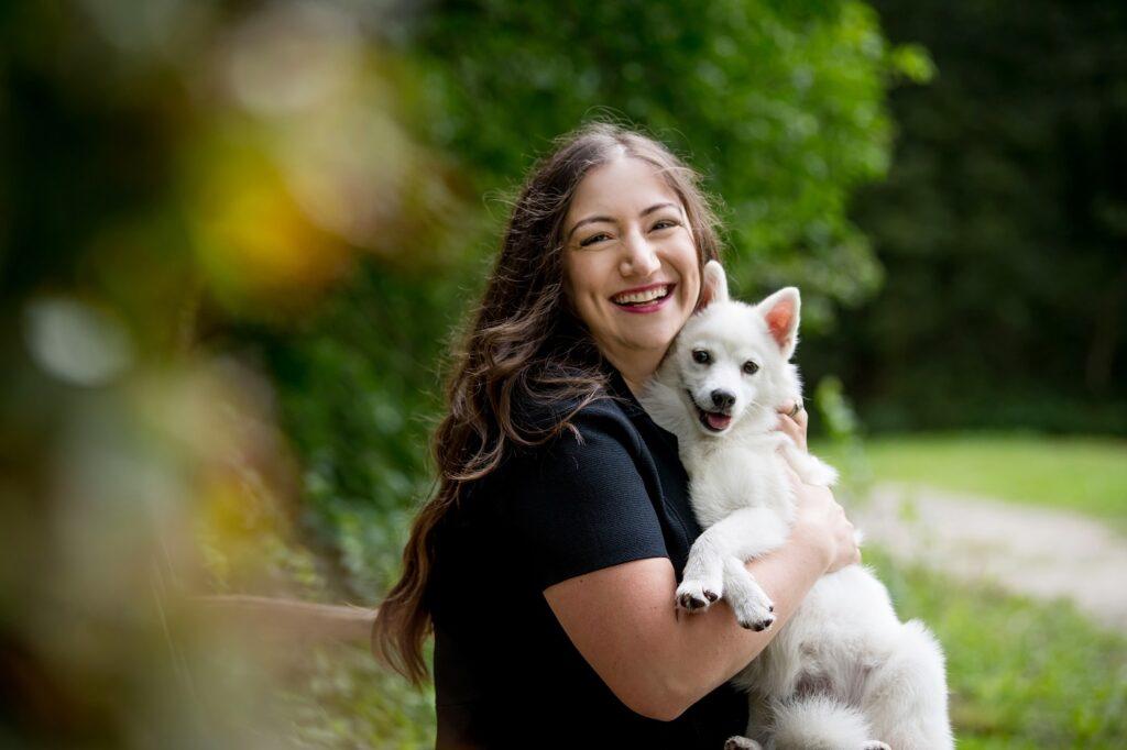 Haya Douidri with Sasha