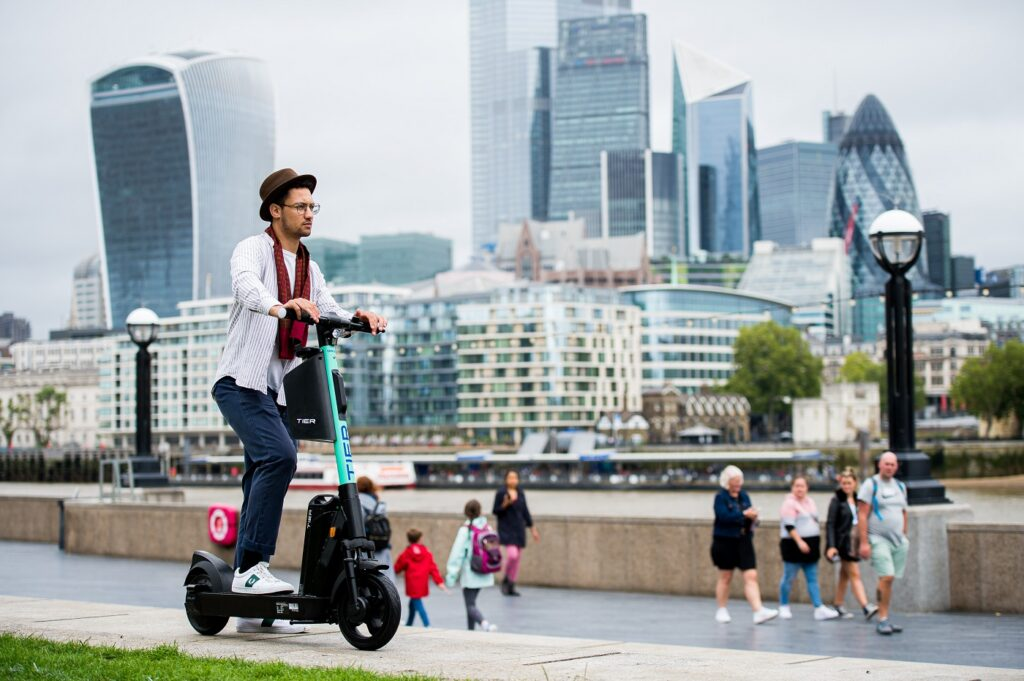 Tier Four electric scooter in London