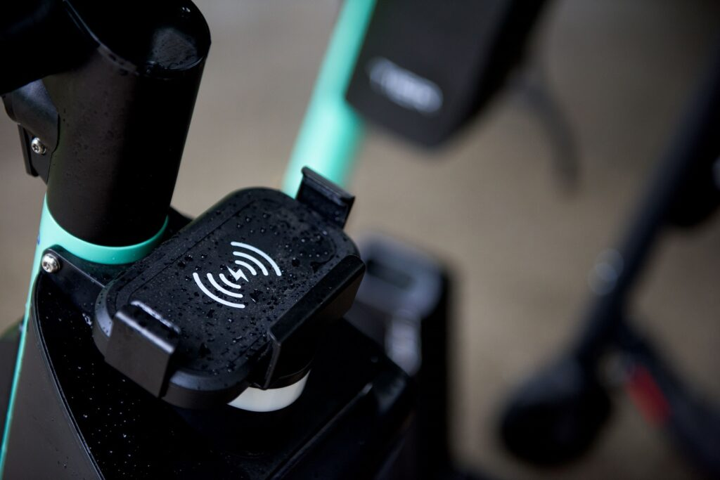 Tier Four electric scooter phone charger