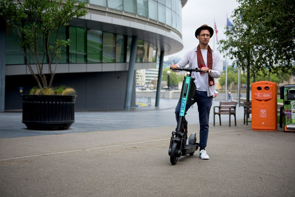 Tier Four e-scooter in London