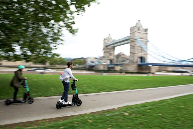 Nathaniel rides the new Tier Four electric scooter in London