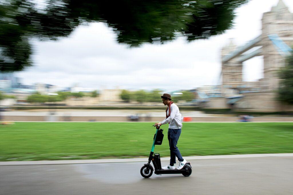 Tier Four e-scooter being ridden