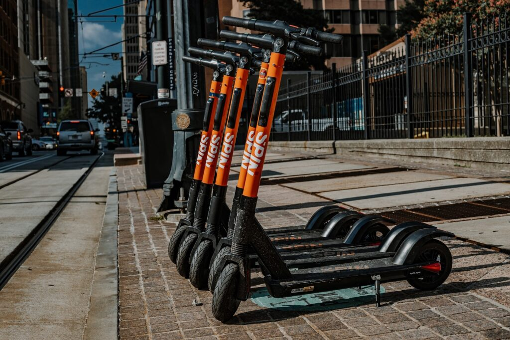 Spin scooters in Atlanta, Georgia