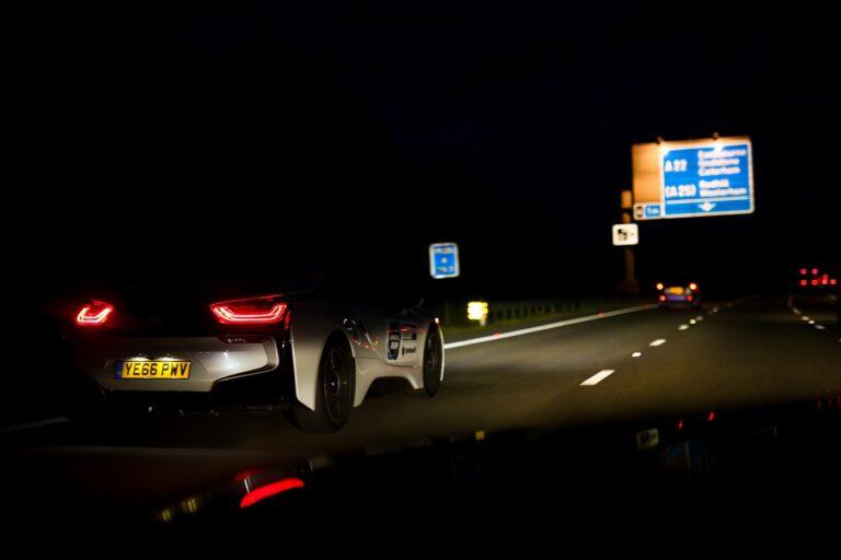 BMW i8 on M25 motorway