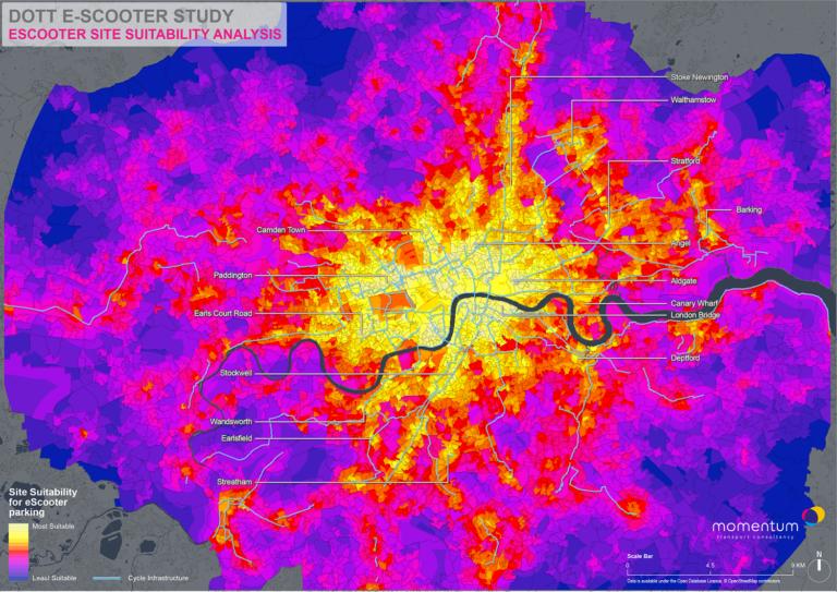 Dott London e-scooter parking map