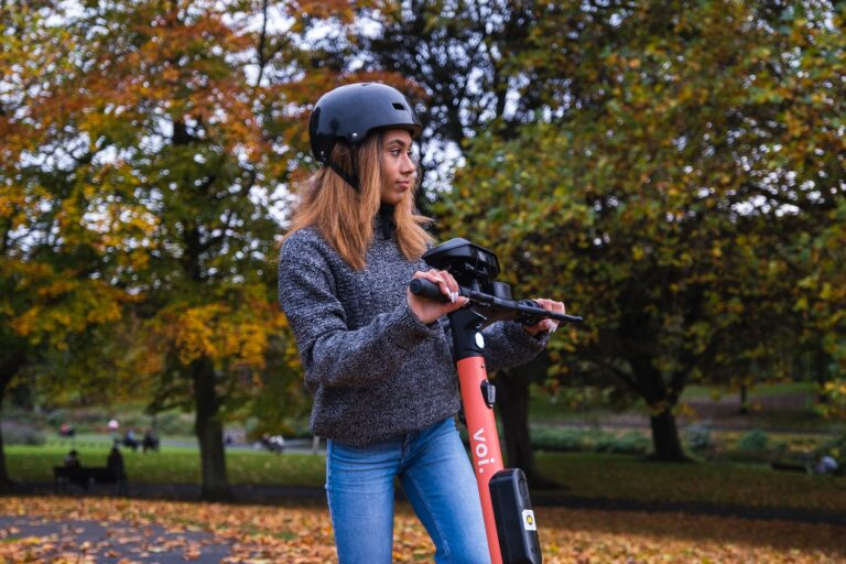 Voi e-scooter with Luna prototype