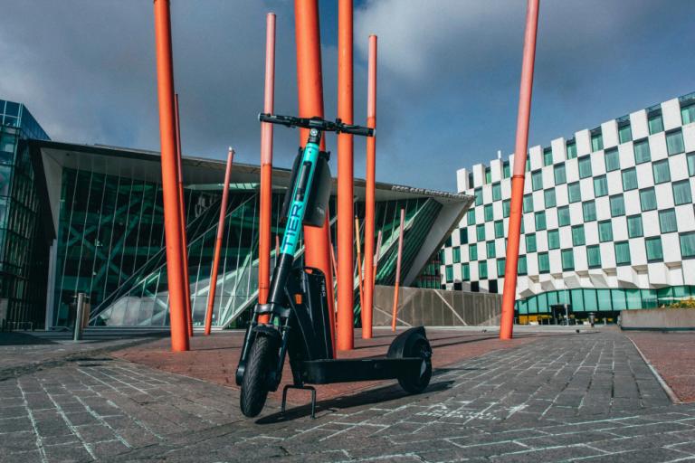 Tier e-scooters at Dublin City University